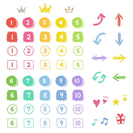 数と手のアイコンを描画