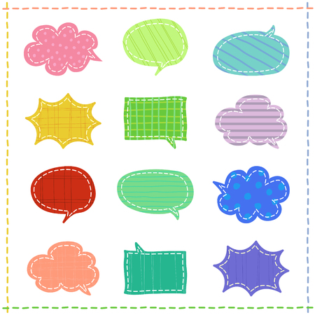 Set of speech bubbles in a variety of patterns