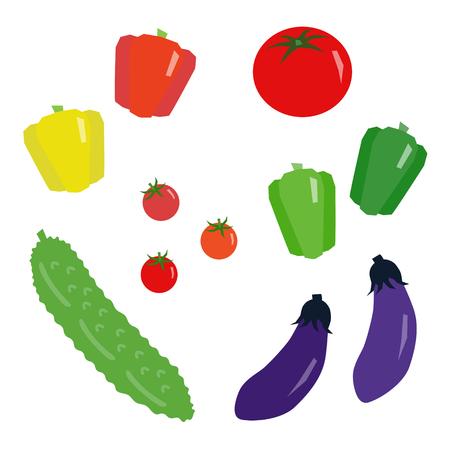 Set of summer vegetables