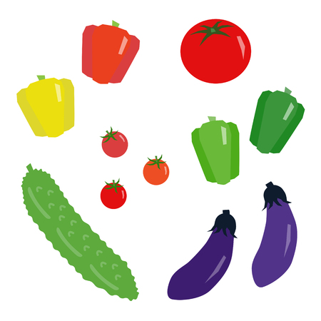Set of summer vegetables