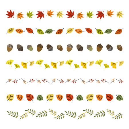 autumn leaf borders Vettoriali