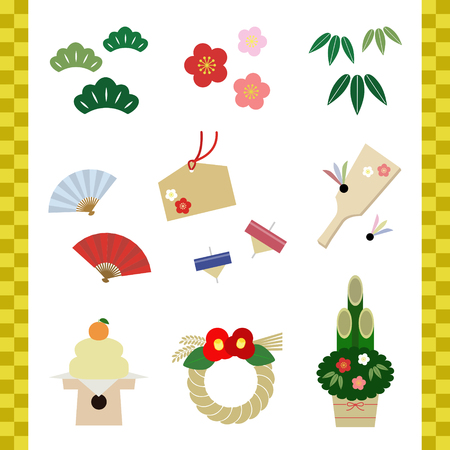 New year elements of Japan 向量圖像