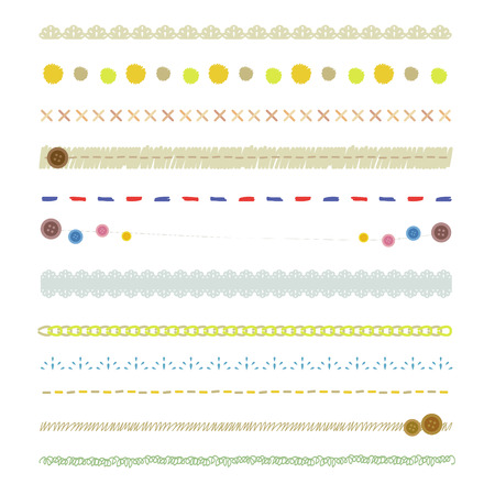Handicraft line set Illustration