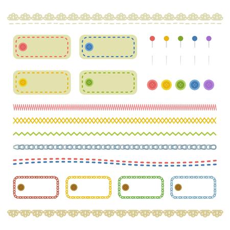 stitch line and frame set 写真素材 - 99066589