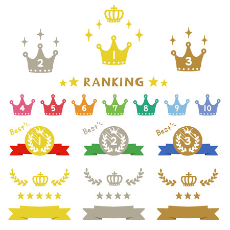 Ranking crown icons