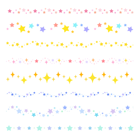 colorful star borders