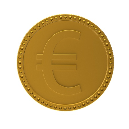 Coin with sign of euro  3d render XL photo