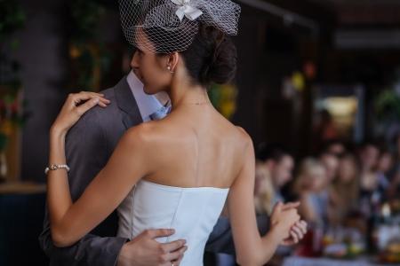 First wedding dance. Shallow depth of field