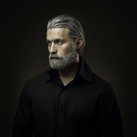 Portrait of tough old man