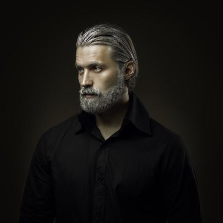 Retrato de anciano duro Foto de archivo