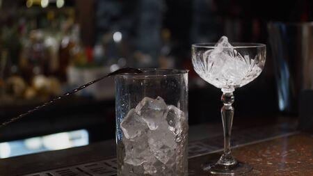 Ice in glasses Archivio Fotografico
