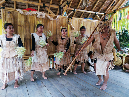 Indigenous tribe performing Sewang dance