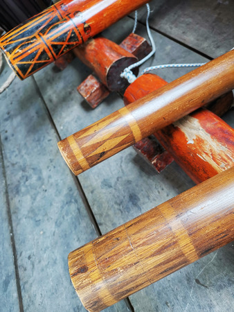 Aboriginal bamboo musical instrument Stock Photo - 121817874