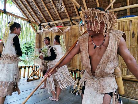Indigenous tribe performing Sewang dance Reklamní fotografie