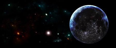Planetas y galaxias, papel tapiz de ciencia ficción. Belleza del espacio profundo. Miles de millones de galaxias en el universo Fondo de arte cósmico Foto de archivo