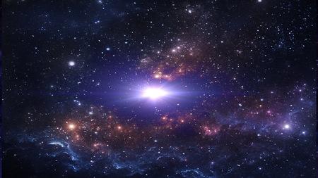 Planetas y galaxias, cosmos, cosmología física, papel tapiz de ciencia ficción. Belleza del espacio profundo.