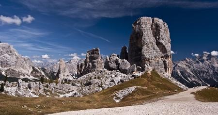 torri: rock formation calle Cinque Torri in Dolomites
