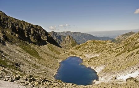 lake called Zamrznute pleso in Litvorova dolina in High Tatras Mts  photo