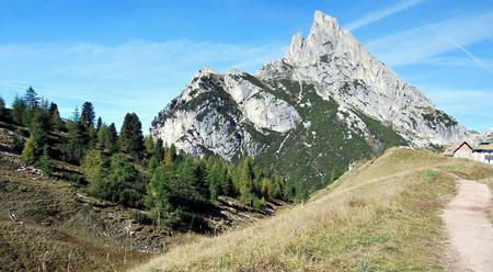 stria: peak called Sasso di Stria from Passo Falzarego