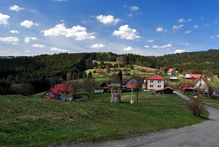 settlement: settlement called Dorotanka on czech-slovak borders in Moravskoslezske Beskydy mountains