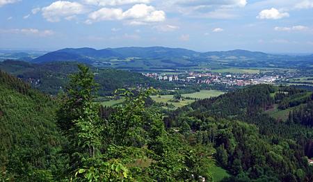 view from Velky Javornik hill to Frenstat pod Radhostem city