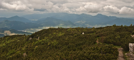 choc: view to Mala Fatra mountains from Velky Choc hill in Chocske vrchy mountains