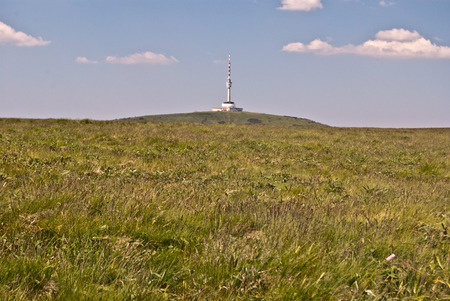 tv tower: Praded hill with TV tower in Jeseniky mountains