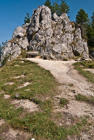 rock formation: limestone rock formation on Chuda Turnia summit in Tatry mountains