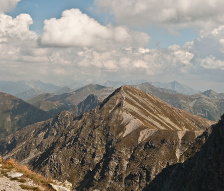 tatry: panorama of Tatry mountains during hiking between Spalena and Pachola peak in part of Tatry mountains called Rohace