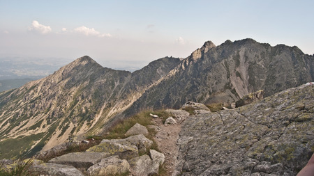 orla: on the Orla Perc hiking trail in Tatry mountains Stock Photo