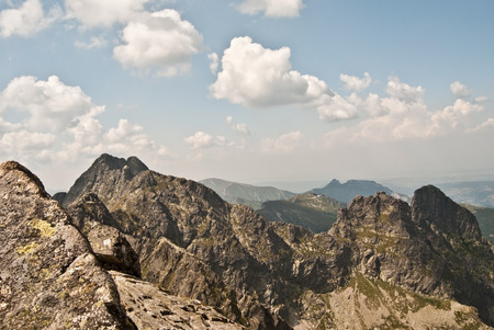 orla: Tatry mountains panorama from Orla Per hiking trail