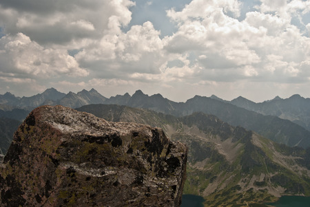 orla: view from Orla Per hiking trail in Tatry mountains