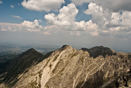tatry: panorama from Orla Per hiking trail in Tatry mountains