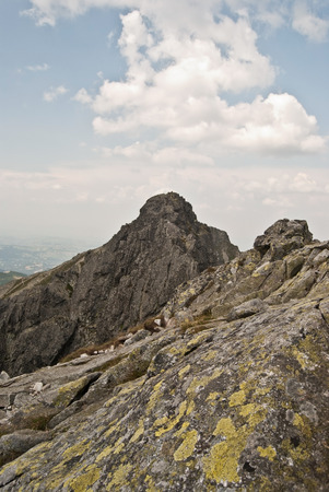 tatry: on the Orla Per hiking trail in Tatry mountains