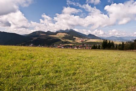 autumn Carpathian mountains near Malatina village in Slovakia
