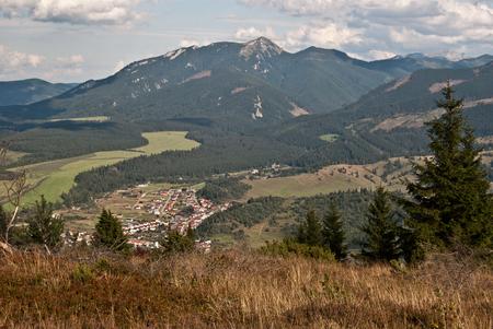 tatras tatry: view to Zuberec village and Osobita peak in Western Tatras Zapadne Tatry mountains in Slovakia