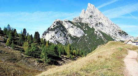stria: peak called Sass de Stria from Passo Falzarego