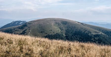 mountain meadow: Ploska hill from mountain meadow on Borisov hill in Velka Fatra mountains in Slovakia