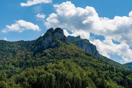 Poludnove skaly rocks and Velky Rozsutec hill from Vrchpodziar above Stefanova village in Mala Fatra mountains in Slovakia Reklamní fotografie