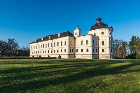 Beautiful Kravare castle near Opava city in Czech republic
