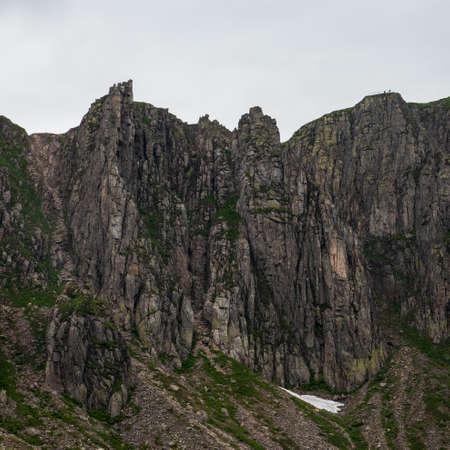 wild Sniezne Kotly rocks in Karkonosze mountains in Poland near borders with Czech republic