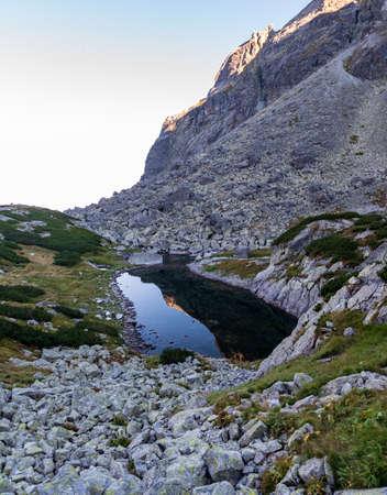 Vareskove pleso lake in Velka Studena dolina valley in Vysoke Tatry mountains in Slovakia