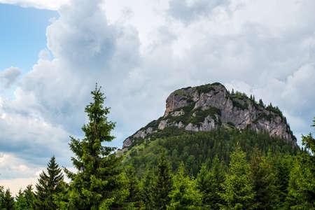 Rocky Maly Rozsutec hill in Mala Fatra mountains in Slovakia