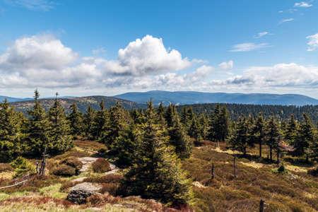 View from Vozka hill in springtime Jeseniky mountains in Czech republic Reklamní fotografie