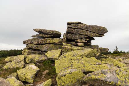 Muzske kameny rock formation in Krkonose mountains on czech - polish borders Reklamní fotografie