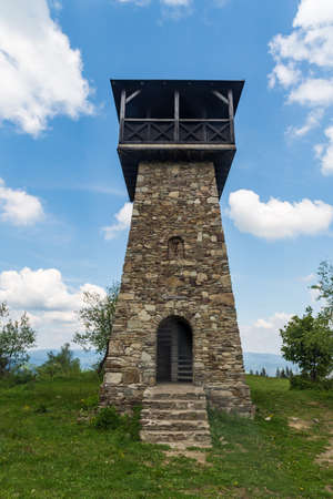 Stone View tower on Martacky vrch in Javorniky mountains in Slovakia