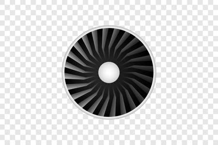 realistic airliner engine.Vector object isolated on transparent background