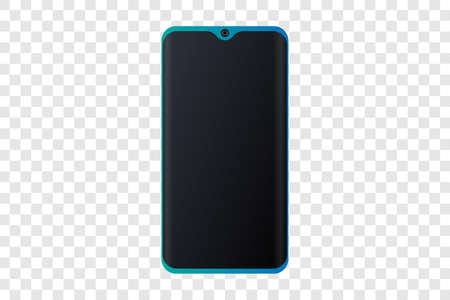 realistic smartphone.Vector object isolated on transparent background