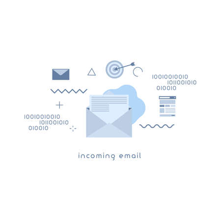 incoming email icon concepts. Modern new email vector illustration concept.