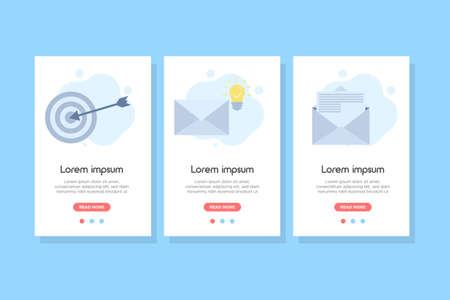 Smart email banner concept. design for web UI, mobile upp, banner, poster.Vector illustration Ilustración de vector